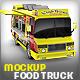 Food Truck Mock-Up. Unique 3D model mockup. - GraphicRiver Item for Sale