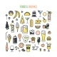 Set Icons Food And Drinks. - GraphicRiver Item for Sale
