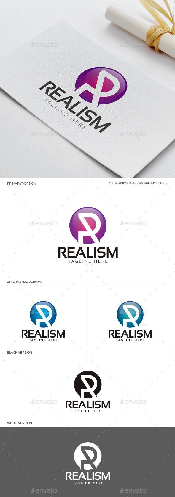 Realism - Letter R Logo