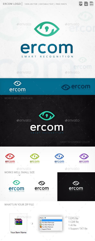 Ercom Eye Vision Logo Template