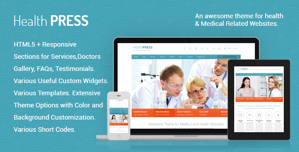 HealthPress - Medical WordPress Theme