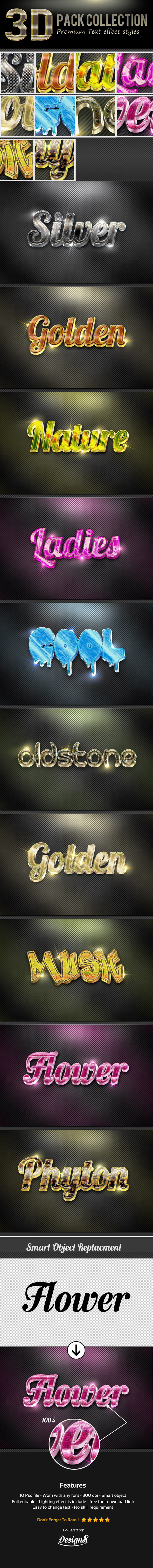 New 3D Photoshop Text Effect Style