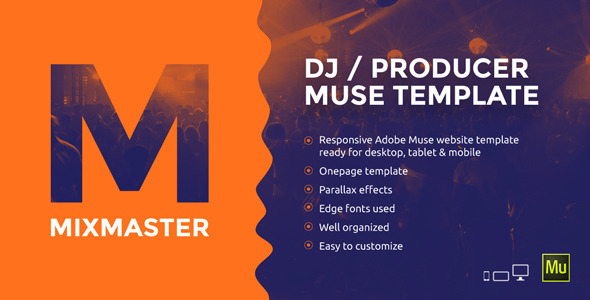 MixMaster - DJ / Producer Website Muse Template