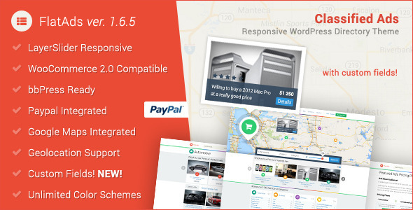 FlatAds - Classified Ads WordPress Theme Download