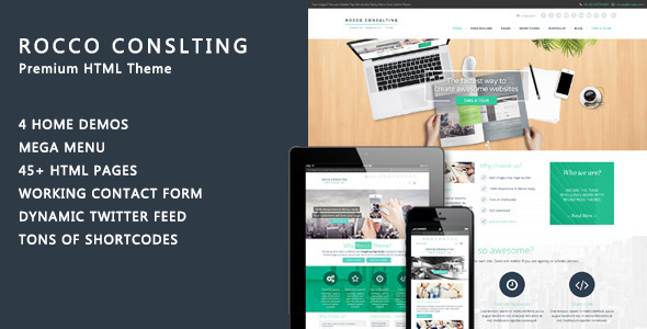 Rocco Flat HTML Template