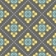 Retro Floral Pattern, Geometric Seamless Flowers - GraphicRiver Item for Sale