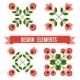 Set Of Design Elements - Retro Flowers - GraphicRiver Item for Sale