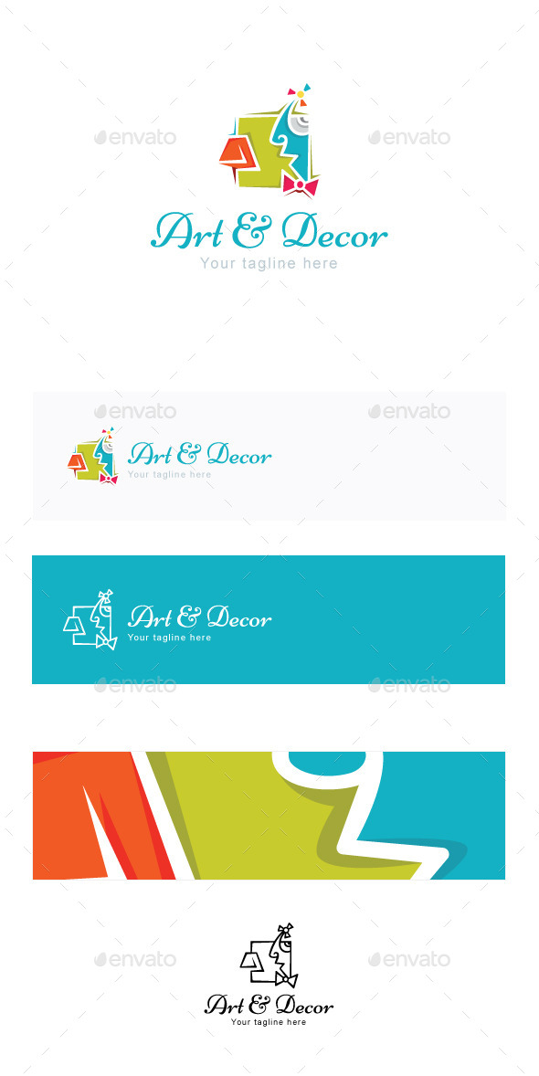 Art and Decor Stock Logo Template