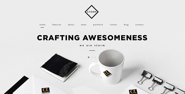 STORM | Creative One Page HTML5 Template