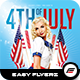 4TH of July Flyer Template Vol.01 - GraphicRiver Item for Sale