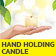 Woman Hand Holding Candle - GraphicRiver Item for Sale