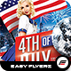 4TH of July Flyer Template Vol.02 - GraphicRiver Item for Sale