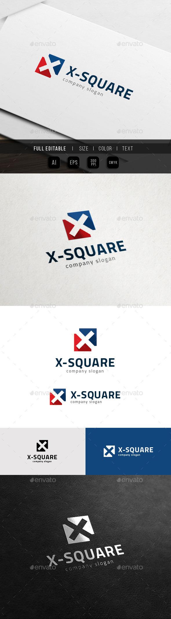 X Logo - Square Cross Sport