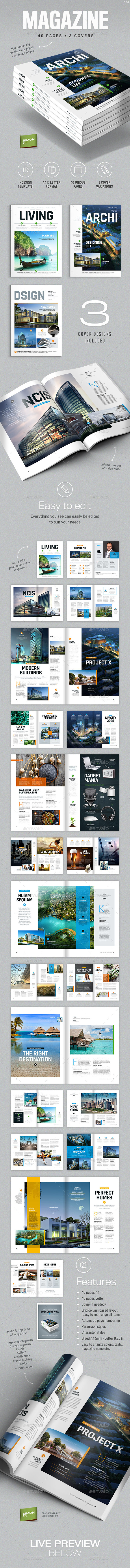 A4 Magazine Templates from GraphicRiver