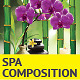 8 Spa Compositions with Orchid Flower - GraphicRiver Item for Sale