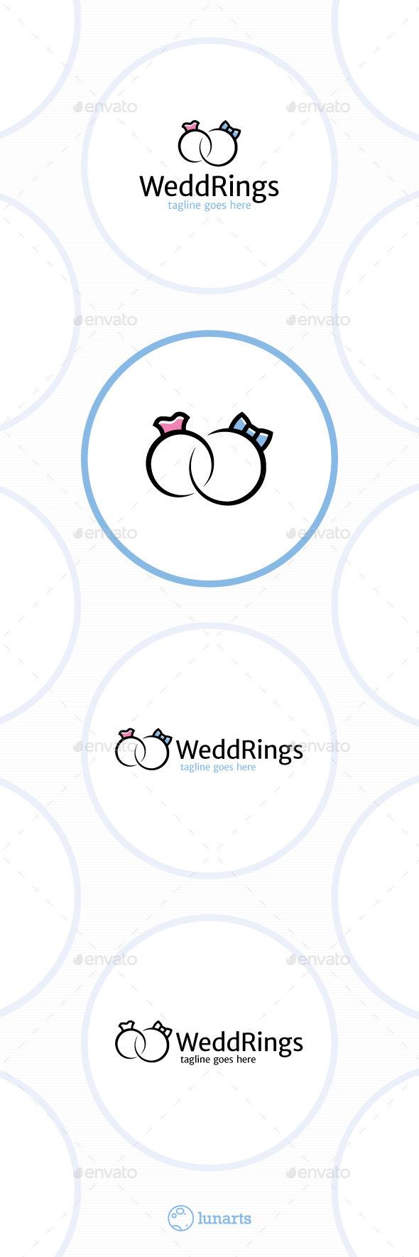 Wedding Rings Logo - Male and Female