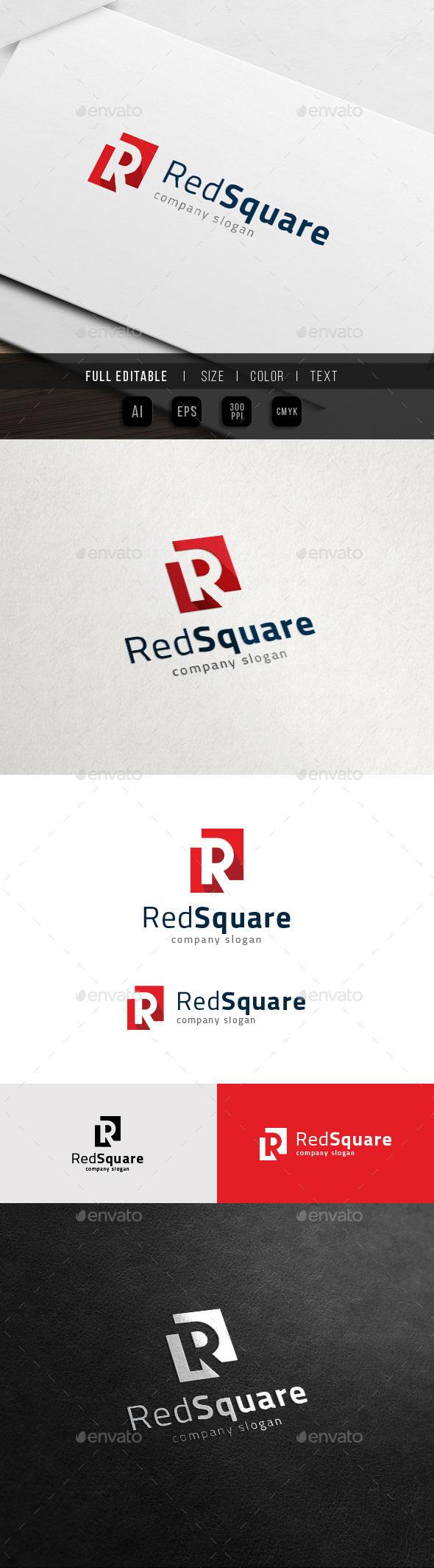 R Logo - Red Square - Real Estate