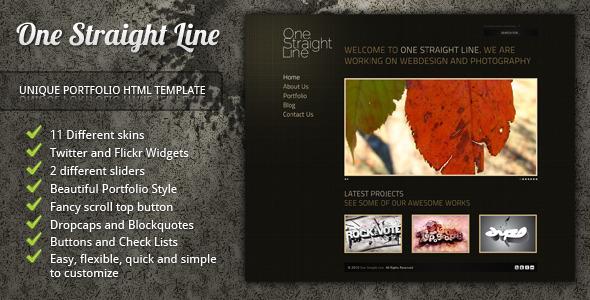 One Straight Line - unique portfolio template
