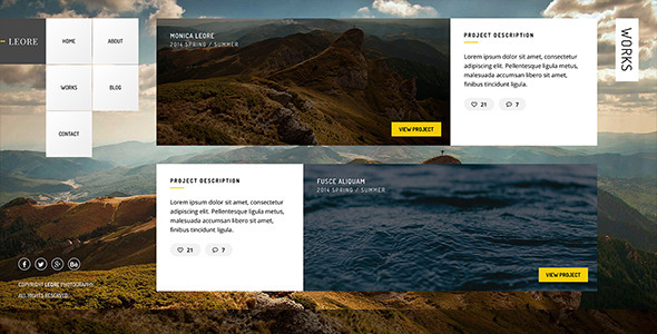 LEORE - HTML Photography Template