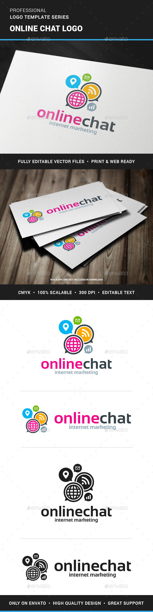 Online Chat Logo Template