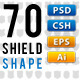 70 Vector Shields - GraphicRiver Item for Sale