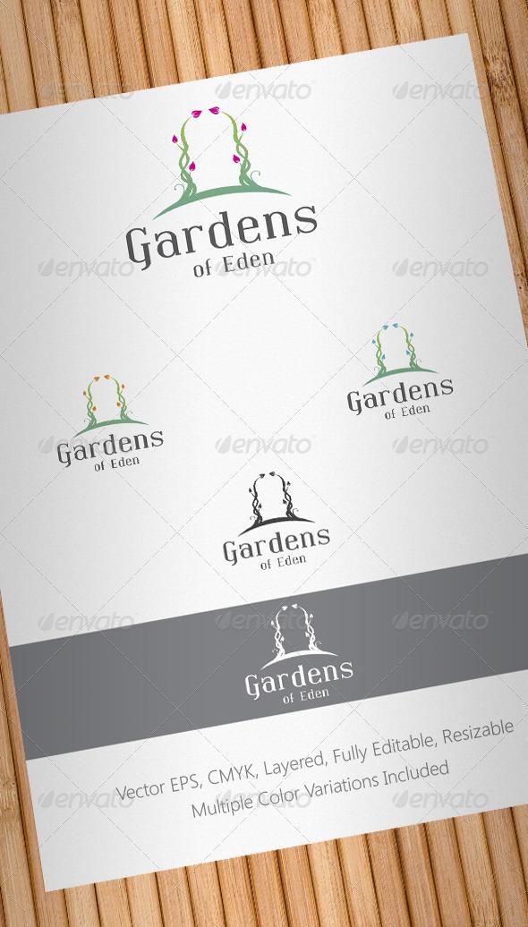 Gardens of Eden Logo Template