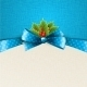 Christmas Background with Bow and Holly - GraphicRiver Item for Sale