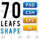 70 Vector Leafs - GraphicRiver Item for Sale