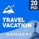 Travel Ad Banner / Vacation Ad Banner - GraphicRiver Item for Sale