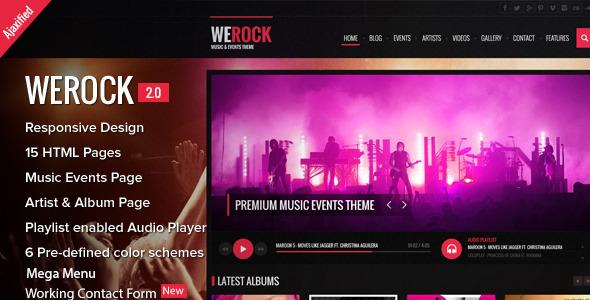 WeRock - Ajax Music Radio Streaming & Event HTML Template