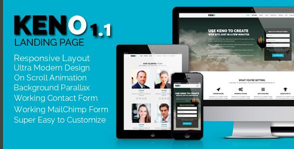 Keno - Flexible and Responsive HTML5 Landing Page