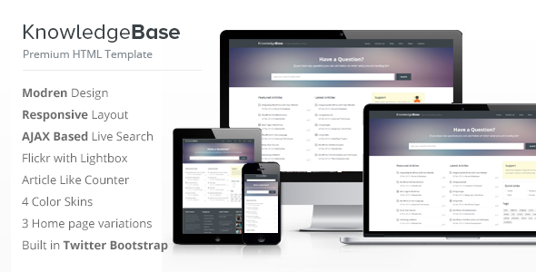 Knowledge Base HTML Template