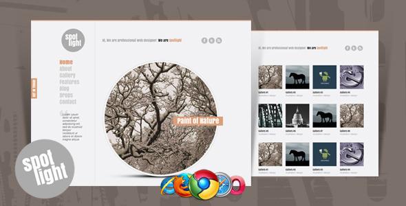 Spotlight - Clean & Minimal Website Template
