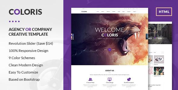 Coloris - Premium Portfolio HTML Template