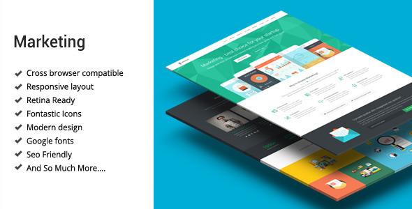 Marketing - Startup Landing Page Template