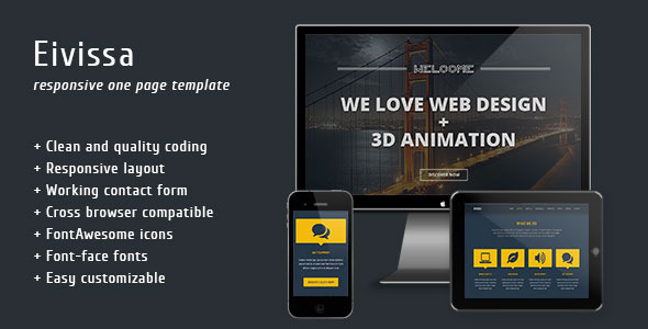 Eivissa - Responsive One Page Template