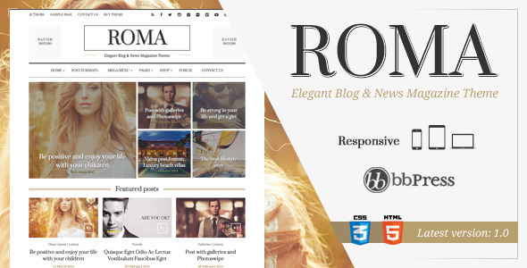 ROMA - Elegant Blog & News Magazine Theme