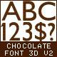 3D Chocolate Font v2 - GraphicRiver Item for Sale