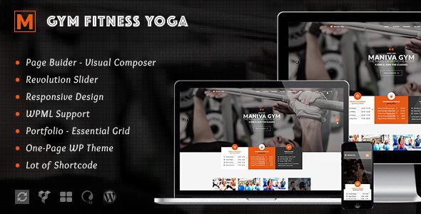 Gym Fitness Yoga - Maniva WordPress Theme