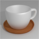Tea Cup with Wood Plate