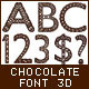 3D Chocolate Font - GraphicRiver Item for Sale