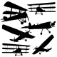 Collection of Different Combat Aircrafts - GraphicRiver Item for Sale