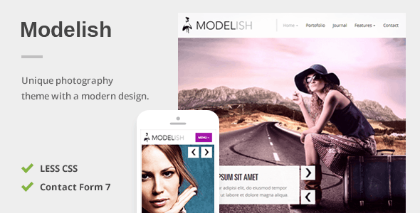 Modelish - A Unique Photography WordPress Theme