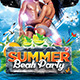 The Summer Beach Party Flyer Template - GraphicRiver Item for Sale