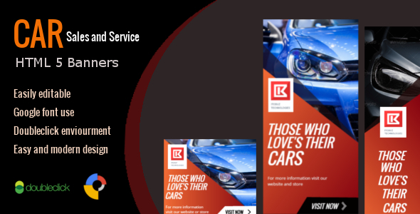 Car Sales and Service - HTML Animated Banner 01 Download