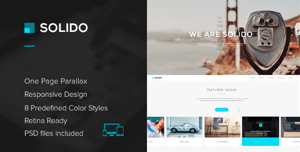 Solido - Responsive One Page Parallax Template 4