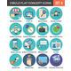 Circle Colorful Concept Icons. Flat Design. Set 4. - GraphicRiver Item for Sale