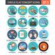 Circle Colorful Concept Icons. Flat Design. Set 5. - GraphicRiver Item for Sale