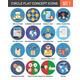Circle Colorful Concept Icons. Flat Design. Set 7. - GraphicRiver Item for Sale