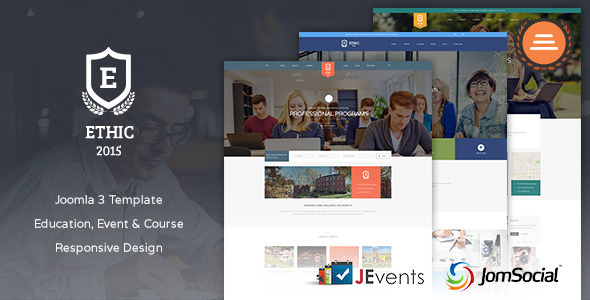 Education, Event and Course – ETHIC Template, Gobase64